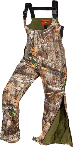 Womens Classic Elite Bibs Realtree Edge Camo Large