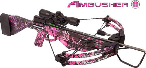 18 Pink Ambusher Crossbow Pkg w/Illuminate M.R. Scope