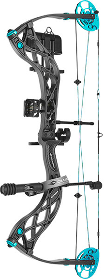 "18 Diamond Carbon Knockout Bow Pkg 22.5-27"" 40# LH Black"