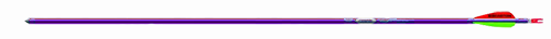 "Genesis 1820 Purple Arrow F/L 3"" Vanes Brite w/N Nock/Point"