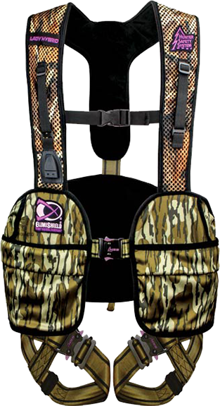 Ladies Hybrid Safety Harness Mossy Oak Bottomland Small/Med