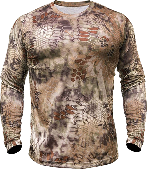 Hyperion Long Sleeve Crew Shirt Highlander Camo Large