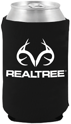 Magnetic Can Cooler White Realtree Logo Black