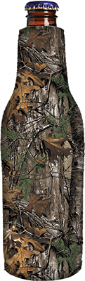 Bottle Cooler White Realtree Logo Xtra Camo