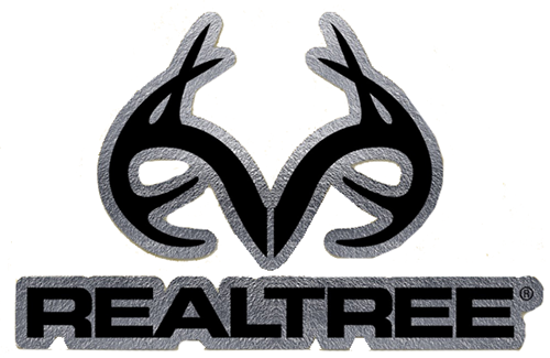 "Realtree Antler Logo Die-Cut Decal Chrome 3.5""x5.5"""
