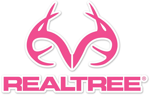 "Realtree Antler Logo Die-Cut Decal Pink 3.5""x5.5"""
