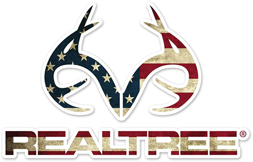 "Realtree Antler Logo Die-Cut Decal American Flag 3.5""x5.5"""
