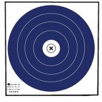 Maple Leaf NFAA Indoor Target Blue/White 40 cm. 100 pk.