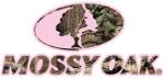 Mossy Oak Camo Logo w/Pink Large 16.5x7.5 Decal