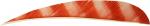 "Red/White Brite Stripe 5"" RW RB Bar Feathers"