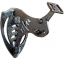 Bone Bracket Skull Mount Black