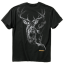 Smoke Deer Tshirt Black 2X