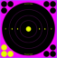 "BC Shoot NC Pink 8"" Bulls Eye Target"