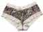 Boy Short Pantie Mossy Oak Breakup Cream Lace Trim Large