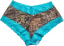 Boy Shorts Mossy Oak Breakup Aqua Lace Trim Large