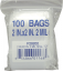 "Mini Zip Lock 2""x2"" Bag 2 MIL"