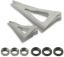 TruGlo Titanium X Replacement Blades Fixed 4 Blade 3 pk.