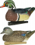 Avian X Top Flight Duck Decoy Wood Duck Floater 6 pk.