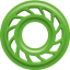 *M Mathews Nano Flatline Damper Green 2 pk.