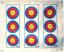 Morrell Polypropylene Target Face 3 Spot Vertical