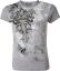 Ladies Rutt Junkie Addicted Cross S/S Shirt Silver Small