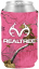 Magnetic Can Cooler White R/T Logo Xtra Camo Paradise Pink