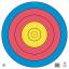 """80cm 5 Ring Target 16.5""""x16.5"""""""