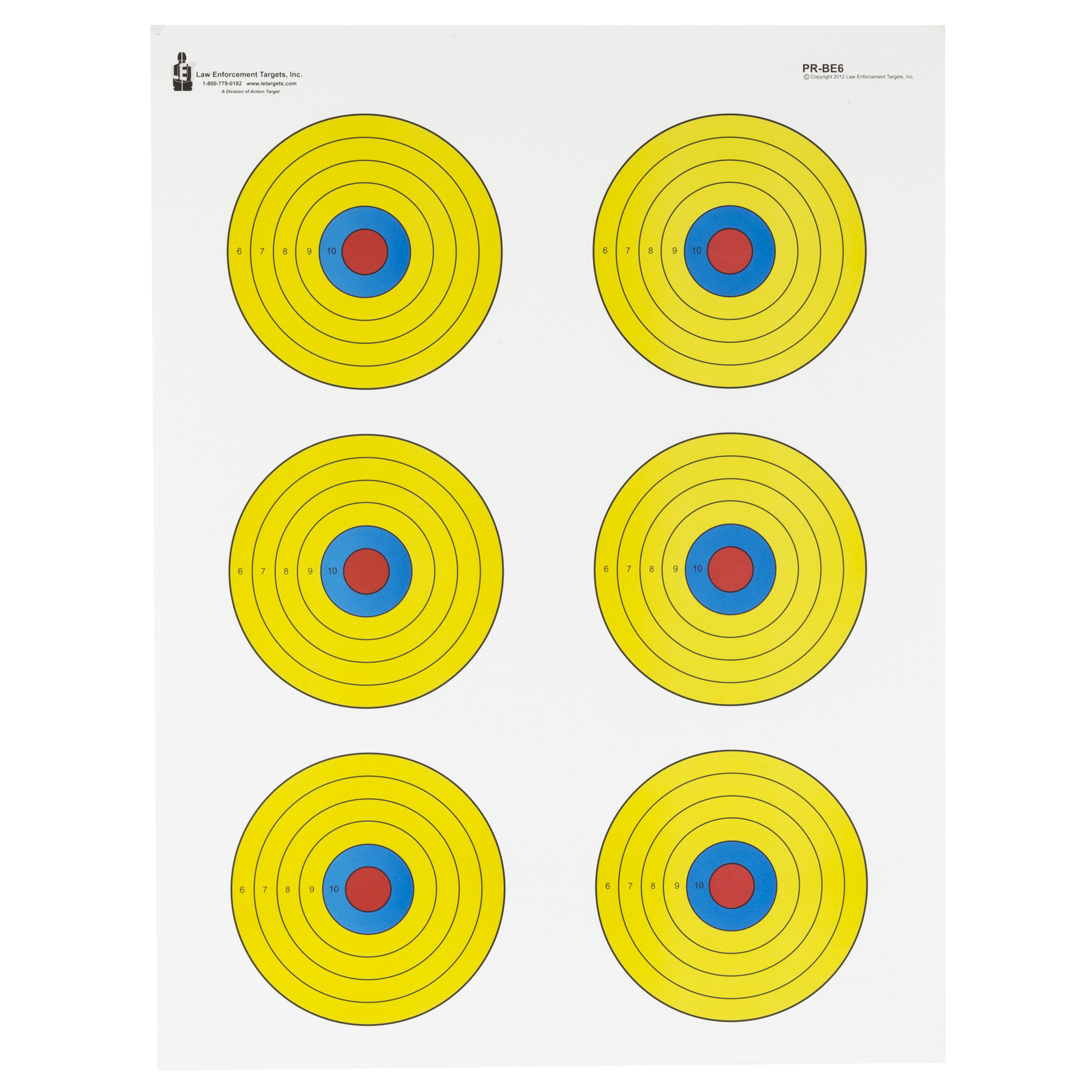 Action Tgt Bright 6 Bullseye 100pk
