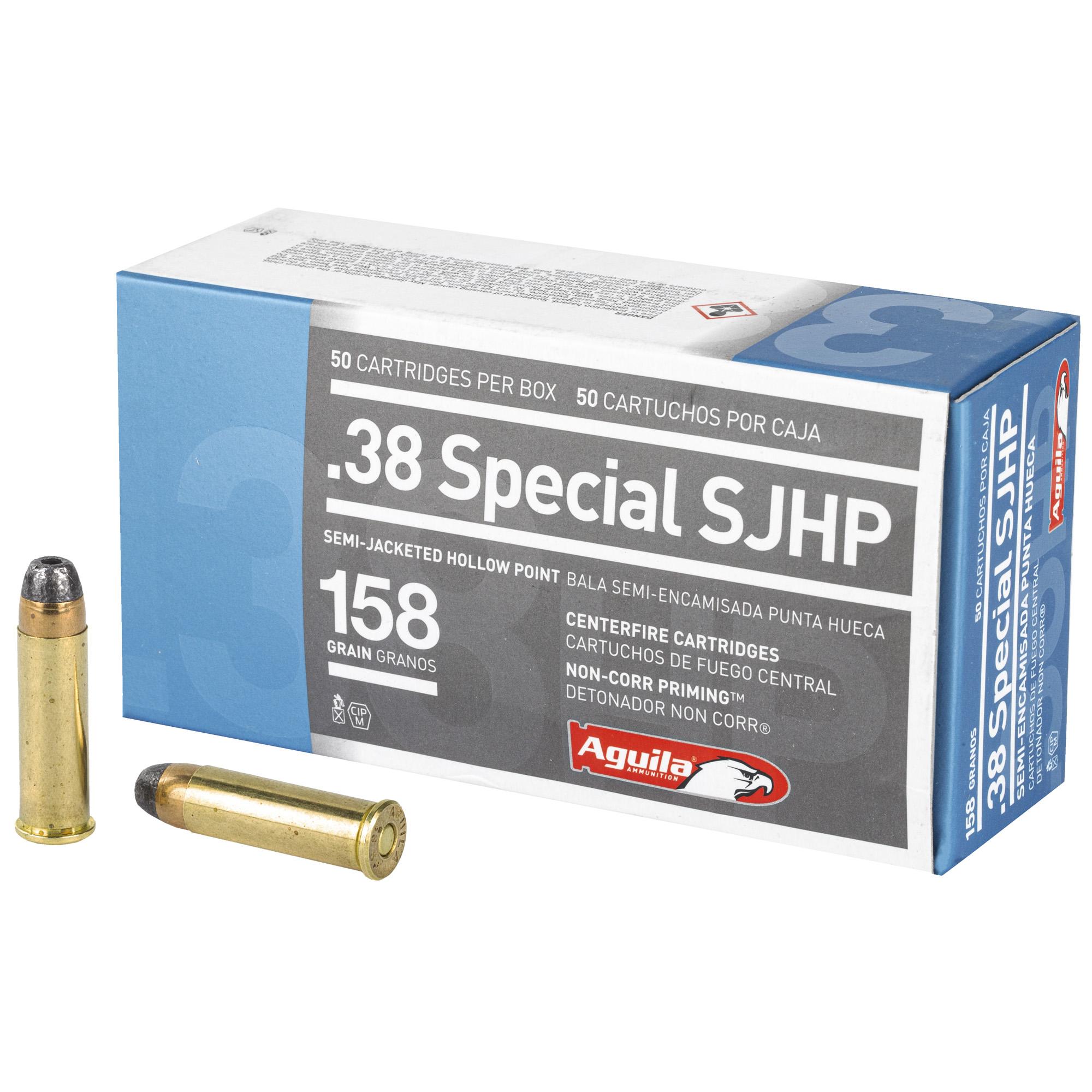 Aguila 38spl 158gr Sjhp 50/500