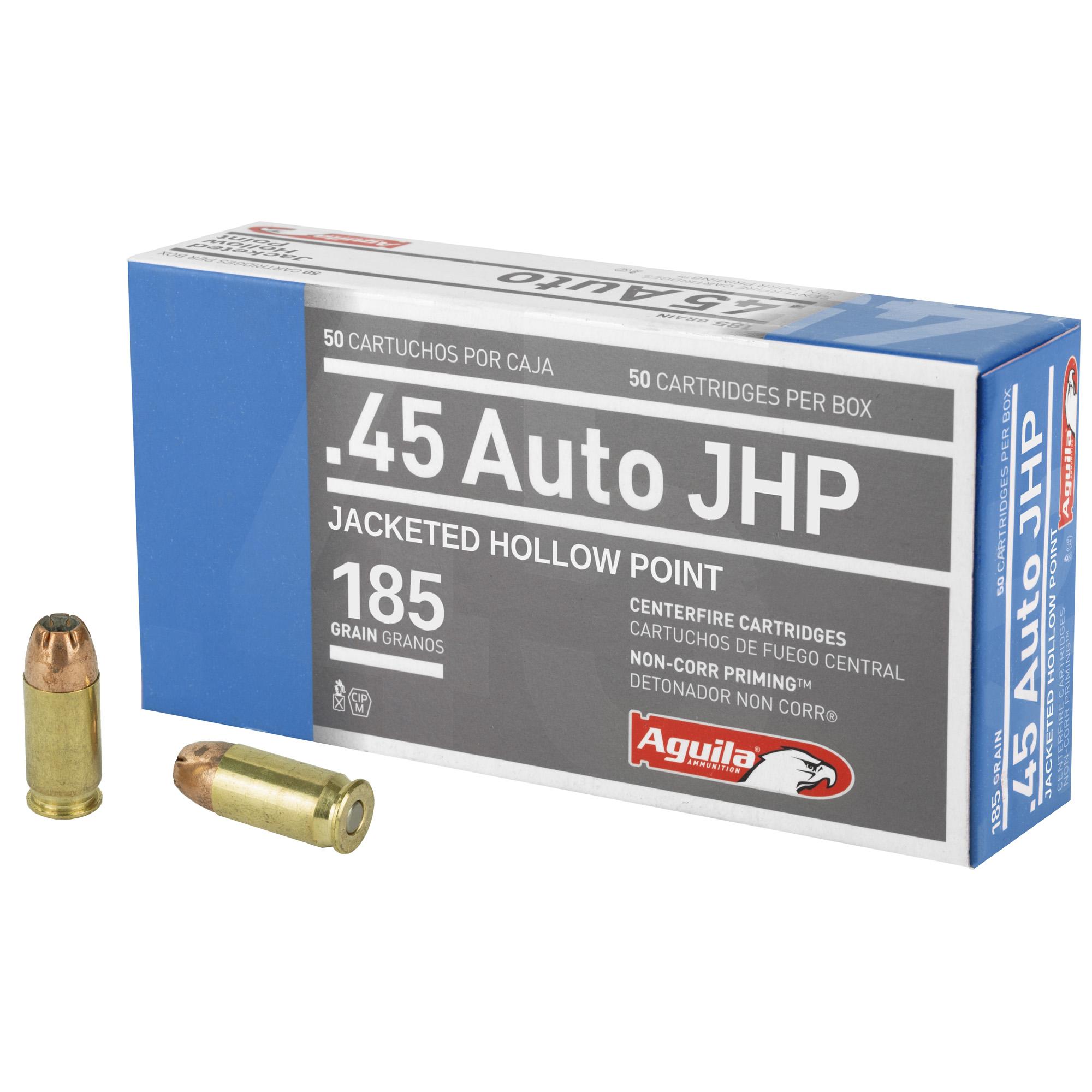 Aguila 45acp 185gr Jhp 50/500