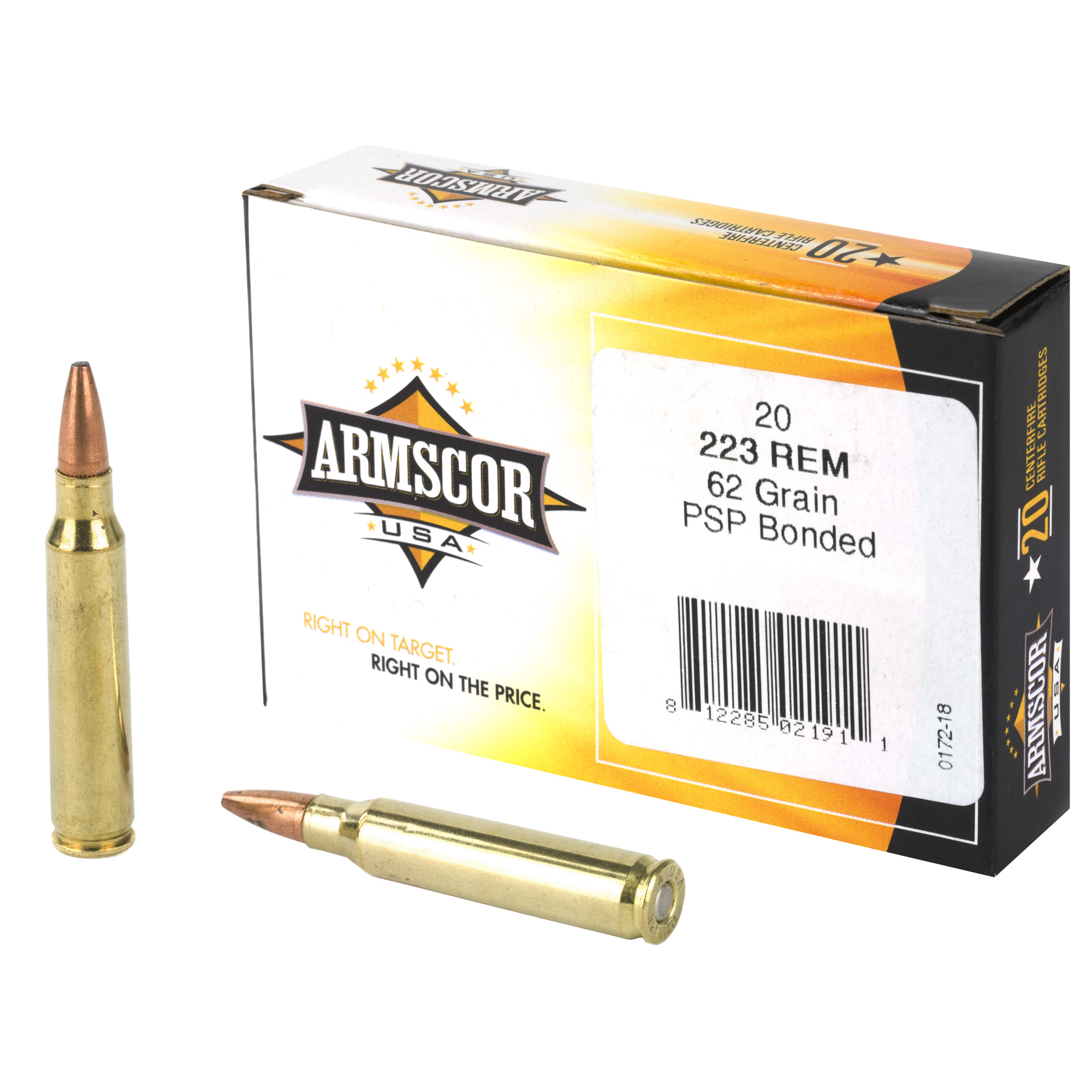 Armscor 223rem 62gr Psp Bond 20/1000
