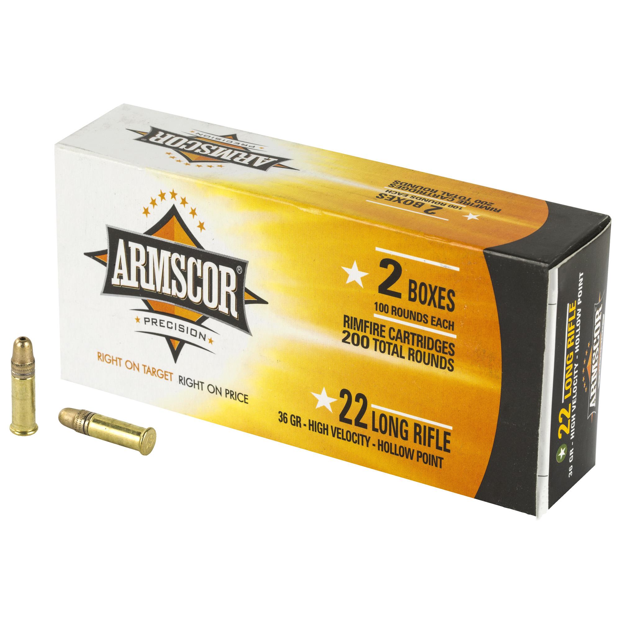 Armscor 22lr Hvhp 36gr 200/2400