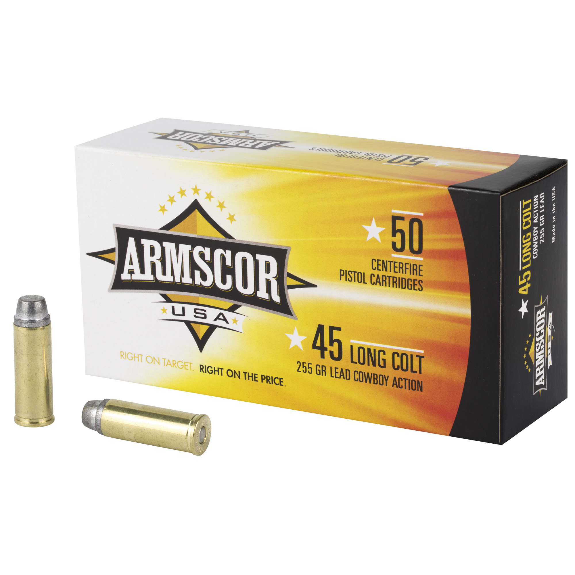 Armscor 45lc 255gr Lead 50/400
