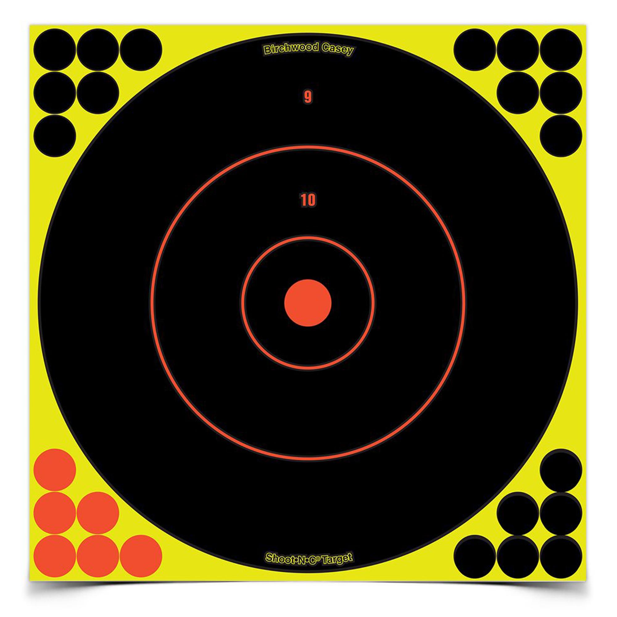 "B/c Sht-n-c Rnd Bullseye Tgt 12-12"""
