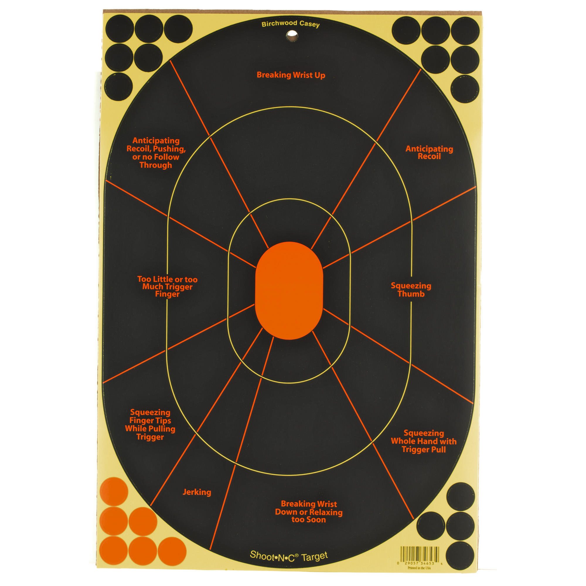 "B/c Sht-n-c Handgun Trnr 5-12x18"""