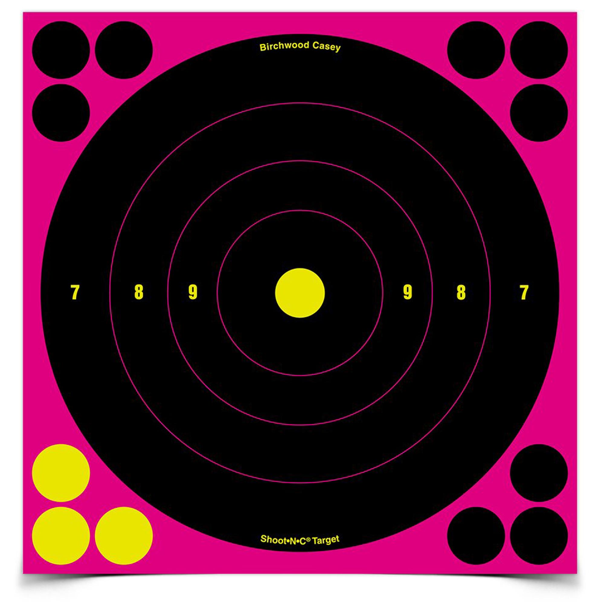 "B/c Sht-n-c Bullseye Tgt Pink 6-8"""