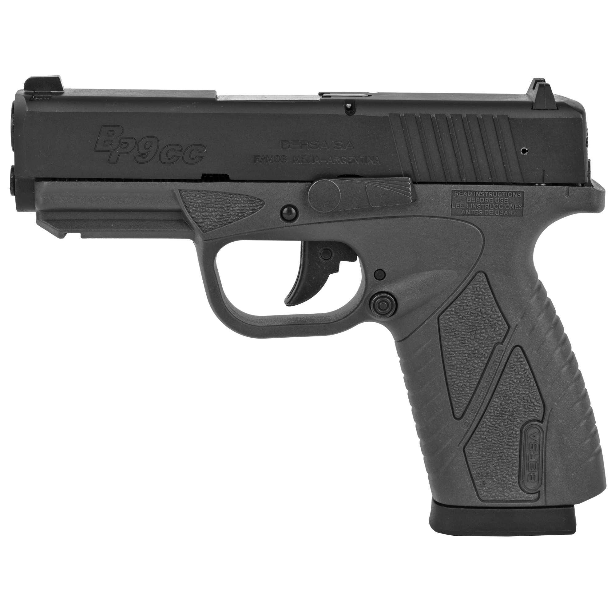 "Bersa Bp Cc 9mm 3.3"" 8rd Matte/grey"