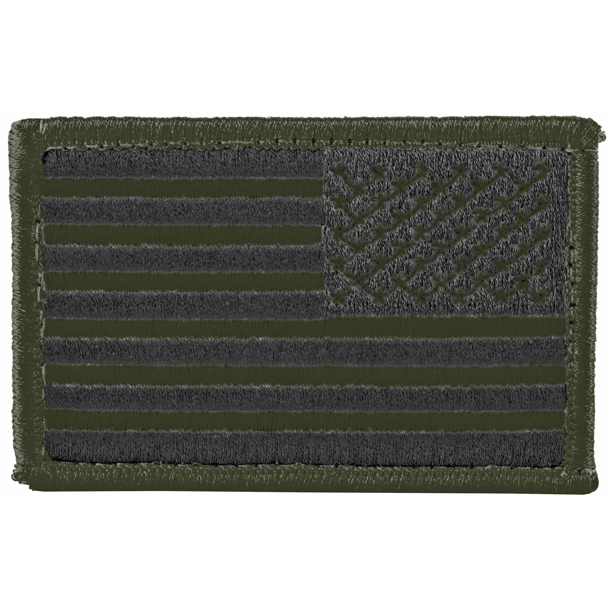 Bh Patch American Flag Rvrsd Od/blk