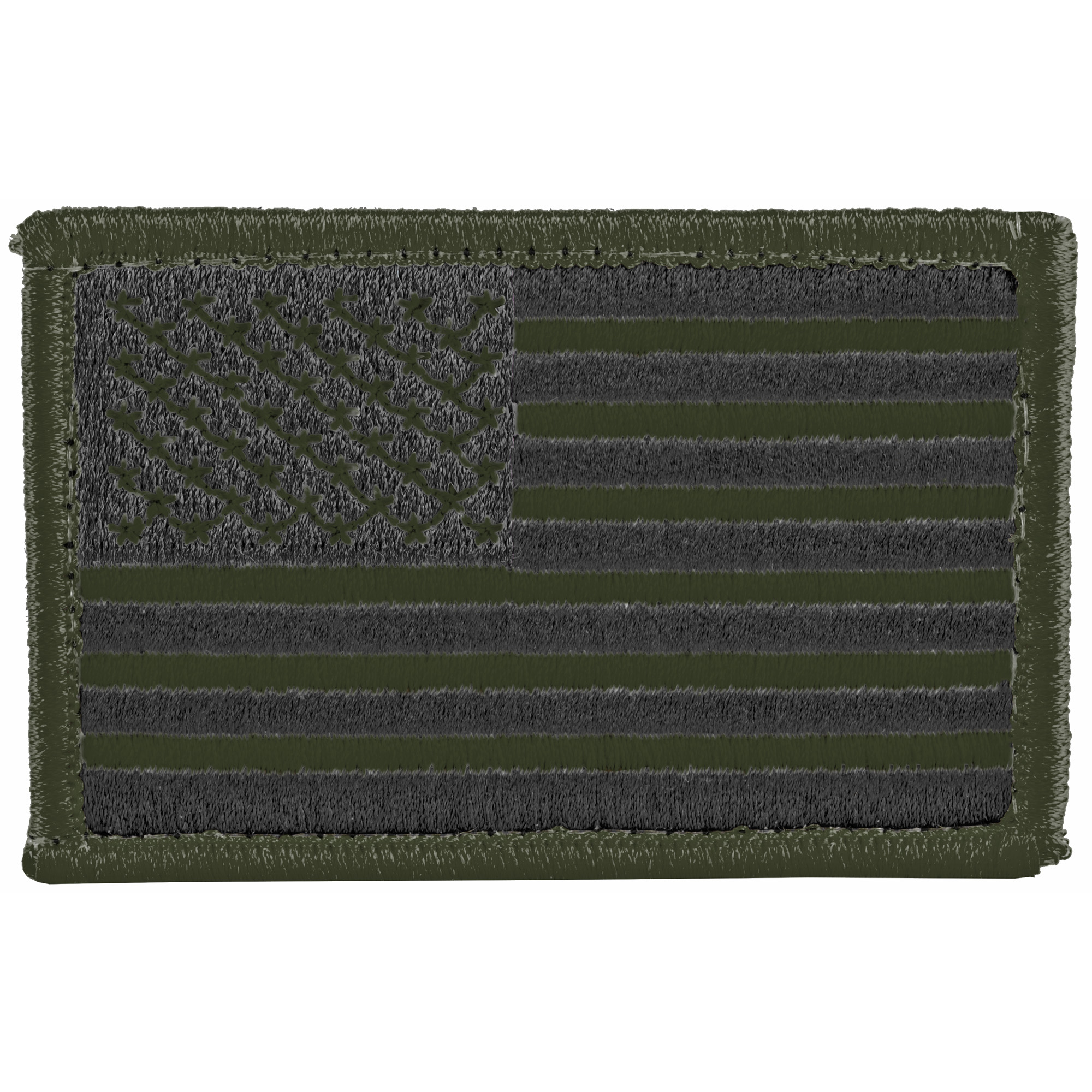 Bh Patch American Flag Wh&l Od/blk