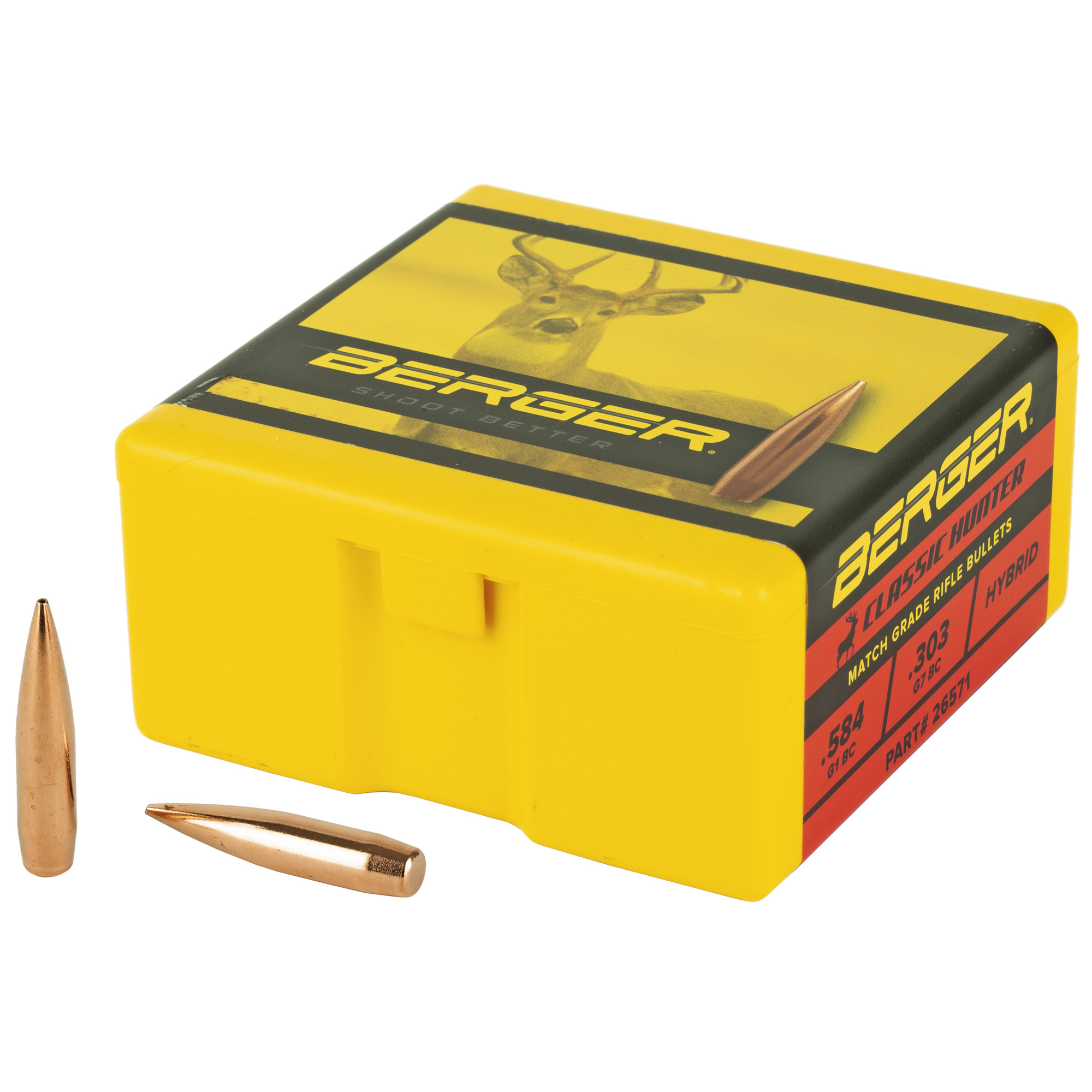 Berger .264 135g Clasc Hunter 100ct