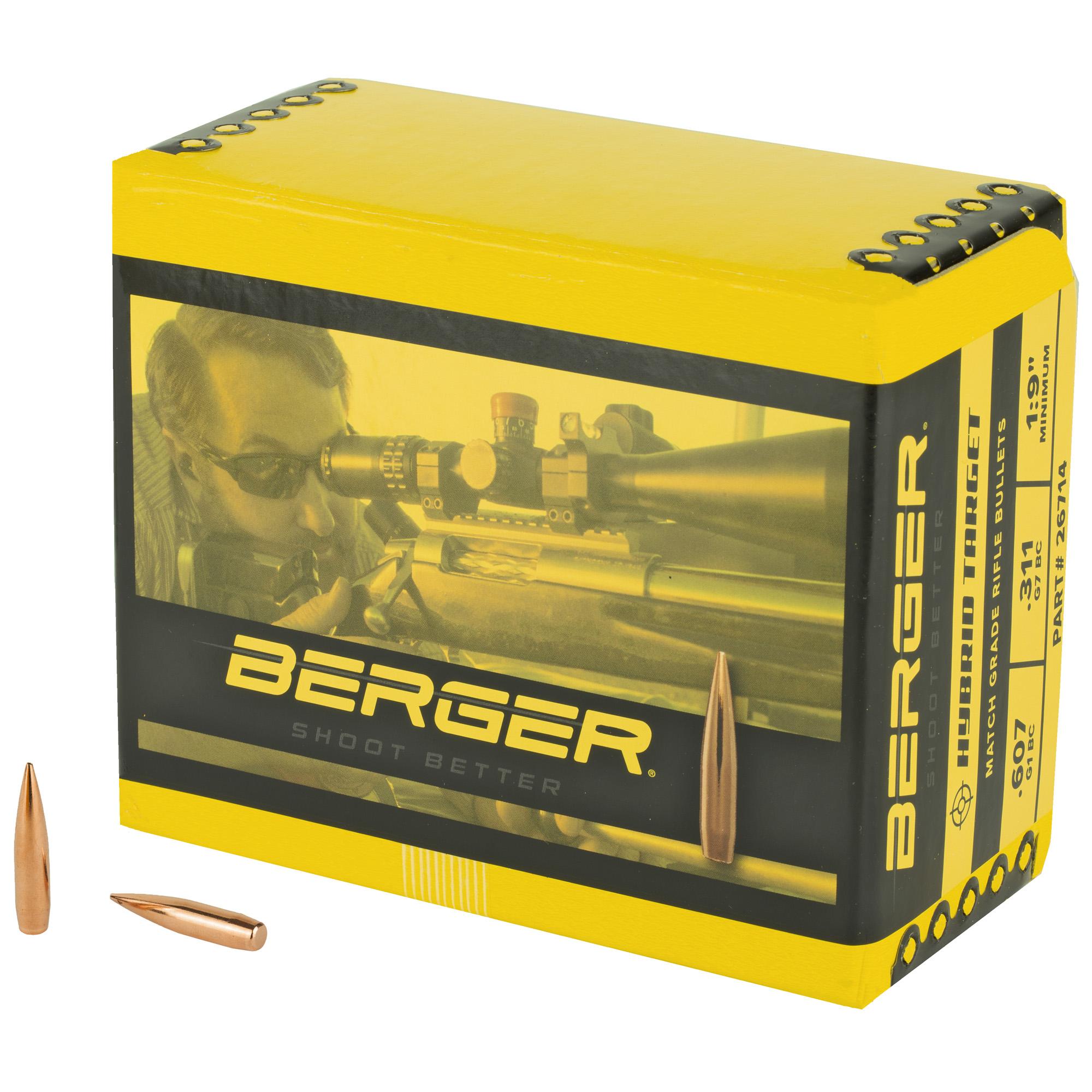 Berger 6.5mm 140g Hybrid Targt 500ct
