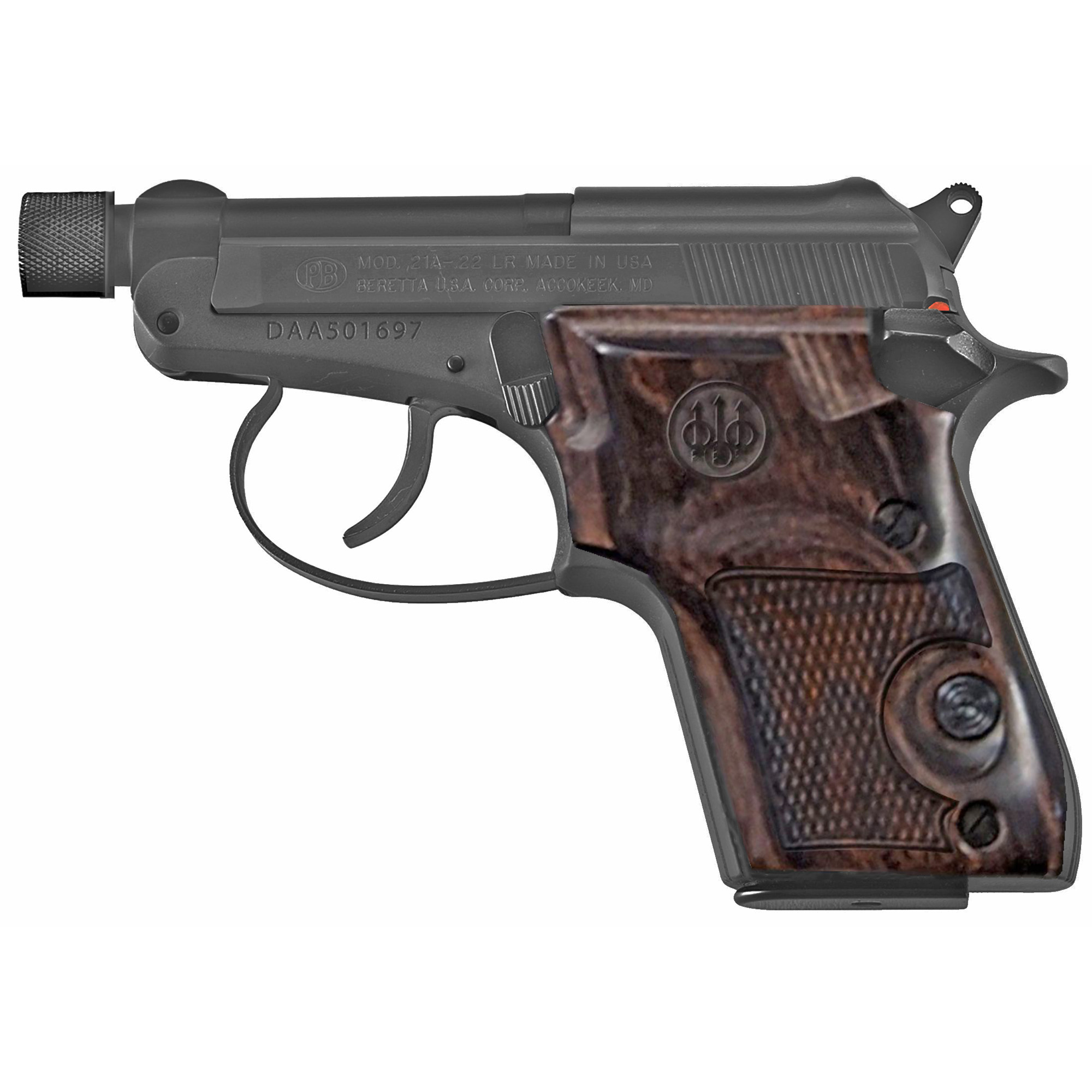 "Beretta 21a 22lr 2.9"" Th 7rd Blk"