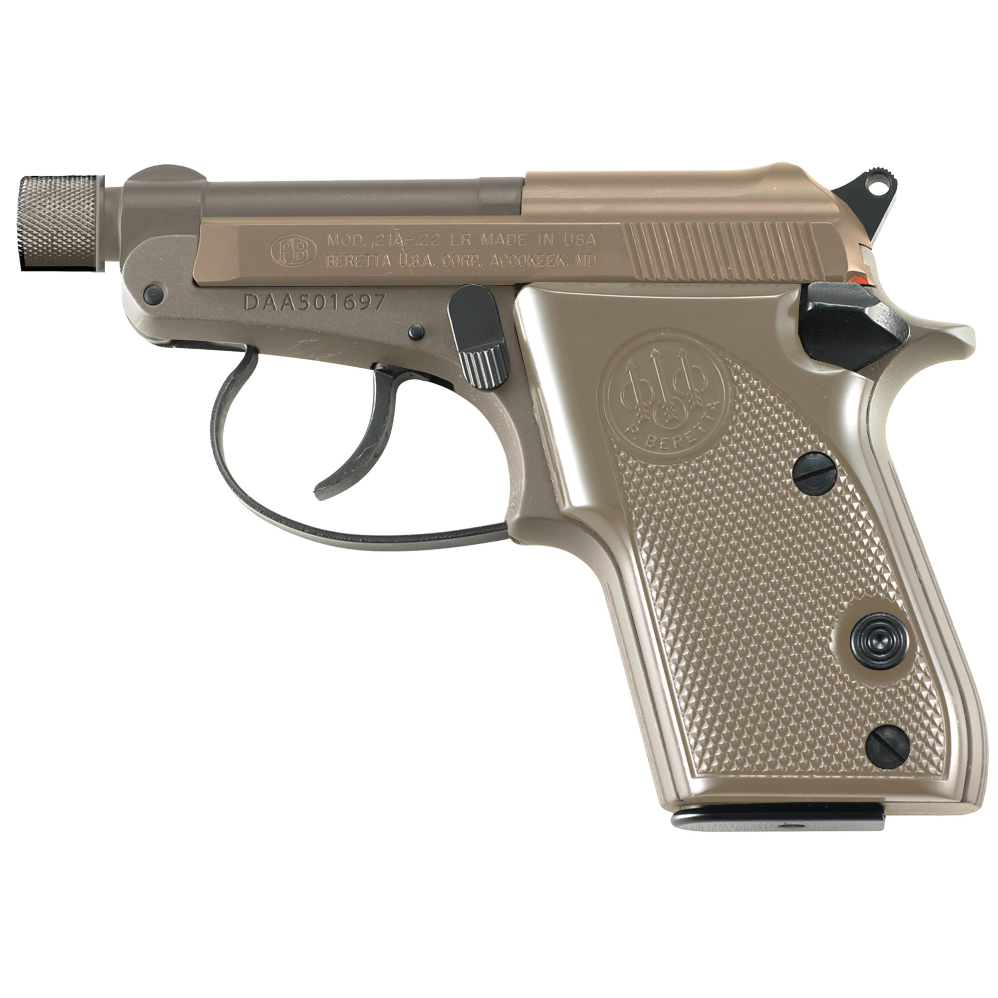 "Beretta 21a 22lr 2.9"" Th 7rd Fde"