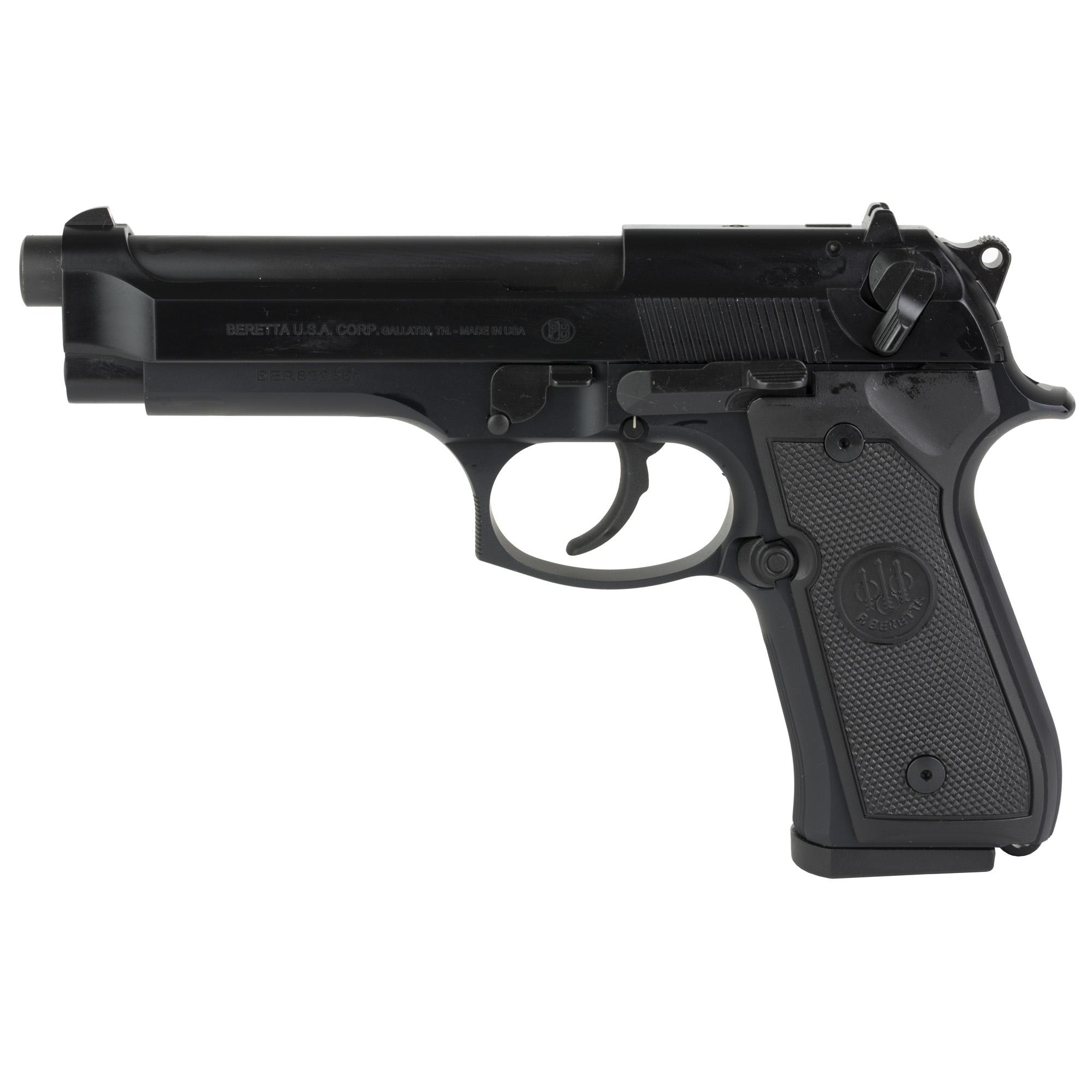 """Beretta 92fs 9mm 4.9"""" Bl 2-15rd"""