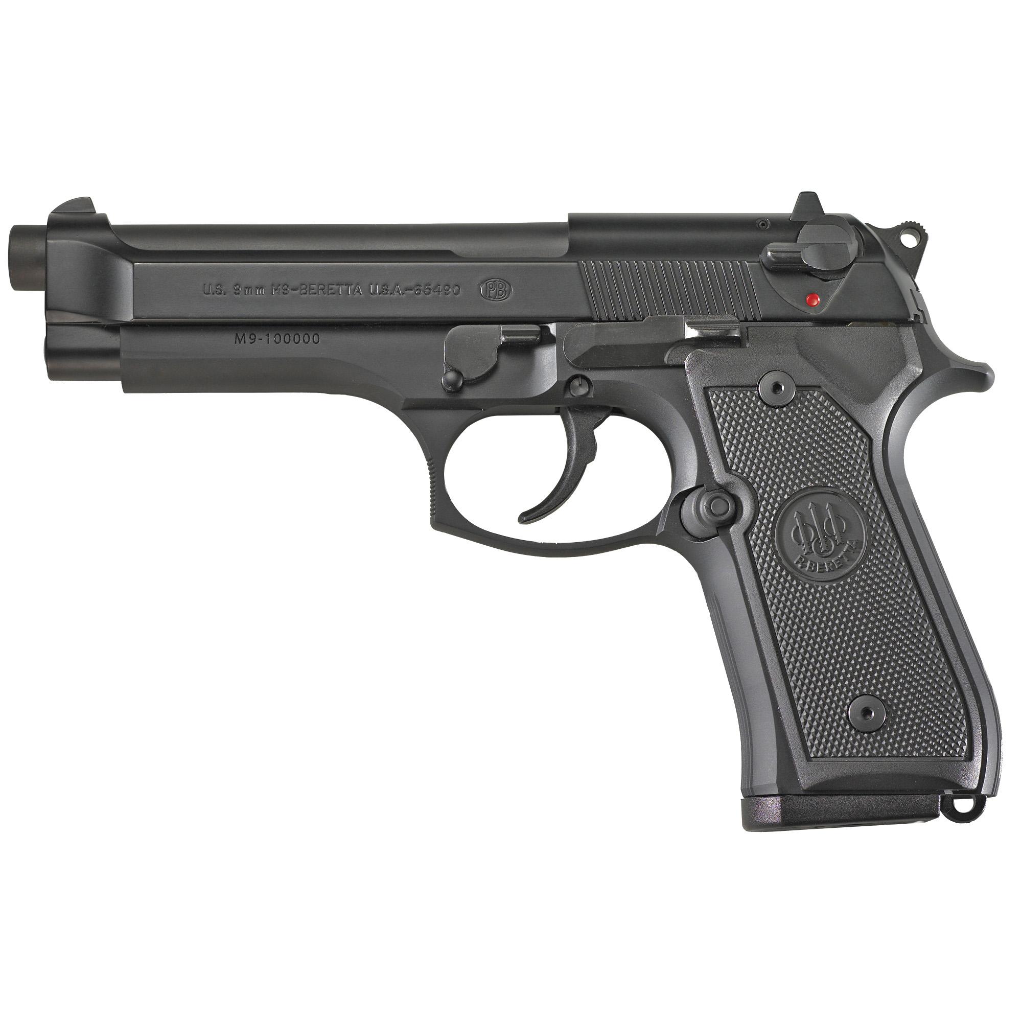 """Beretta M9 Ca 9mm 4.9"""" 10rd Blk"""