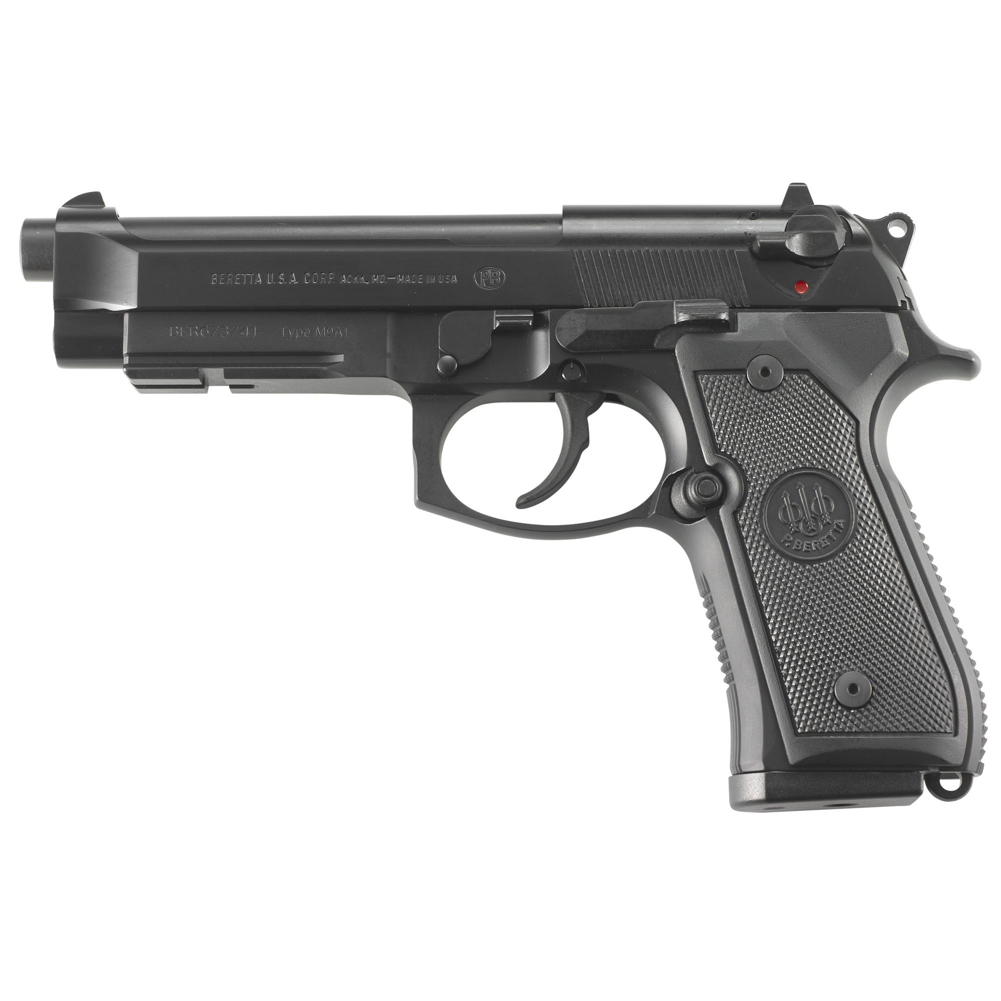 """Beretta 92a1 9mm 4.9"""" Bl 3-17rd"""