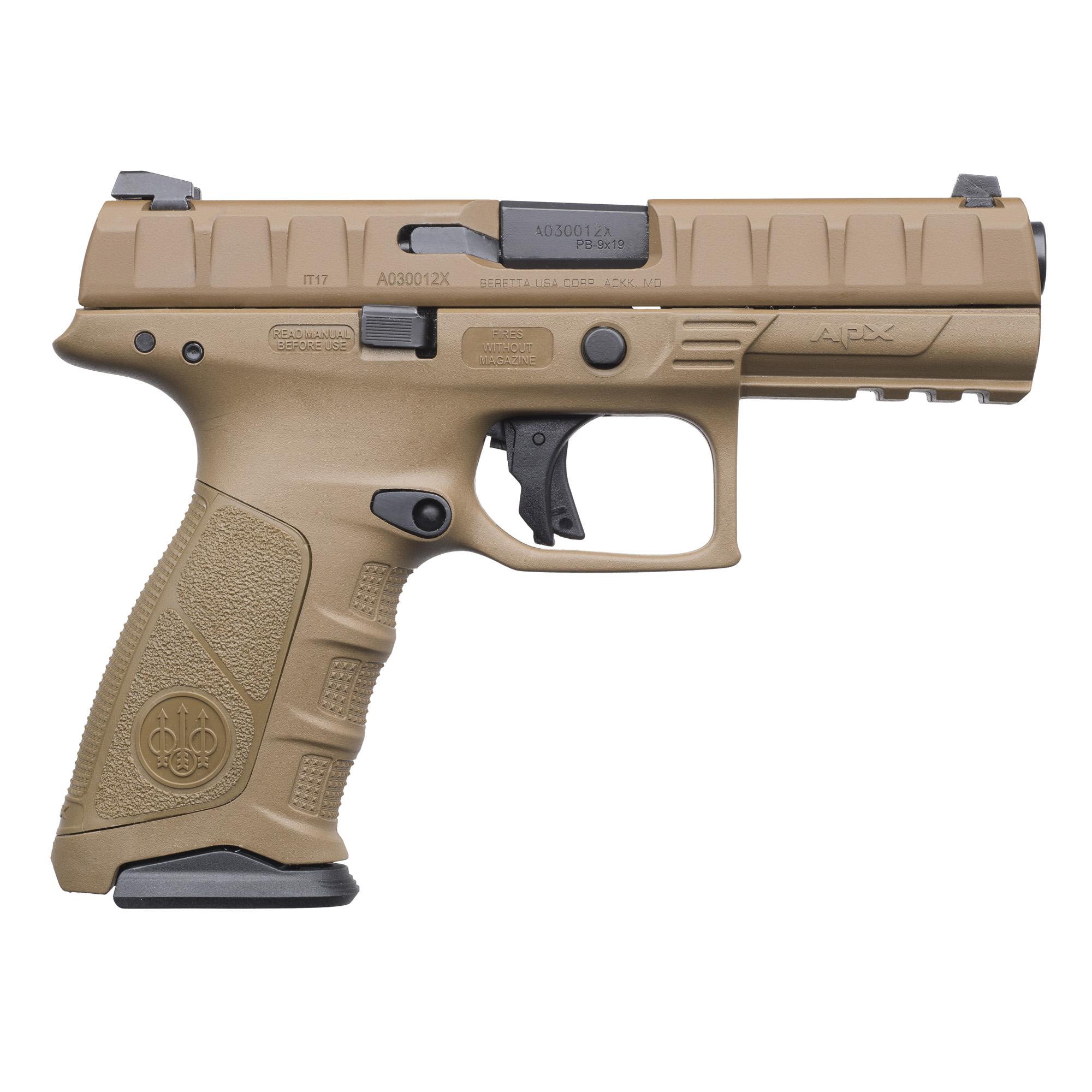 """Beretta Apx 9mm 4.25"""" Fde 17rd"""