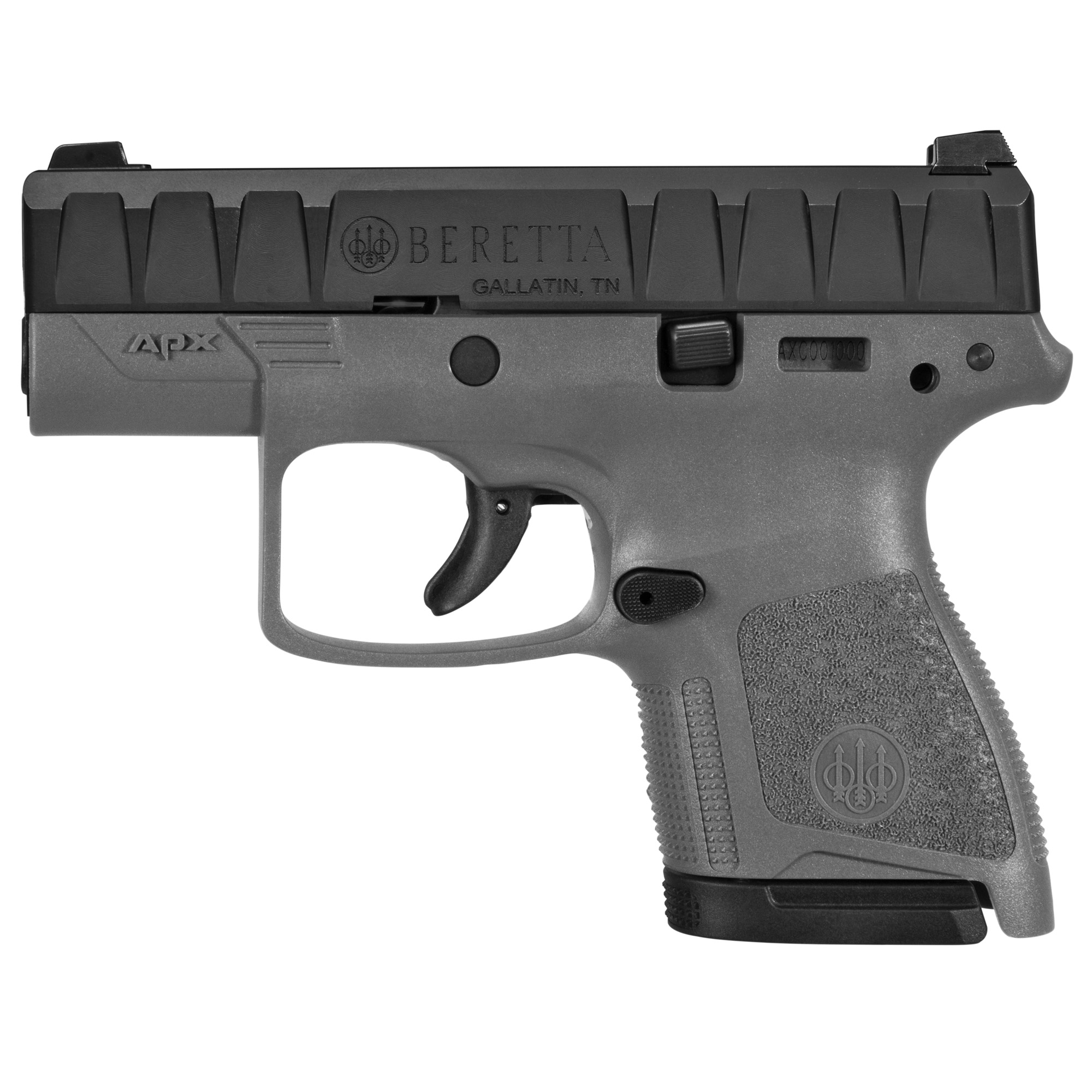 """Beretta Apx Carry 9mm 3.07"""" Gry 6/8"""