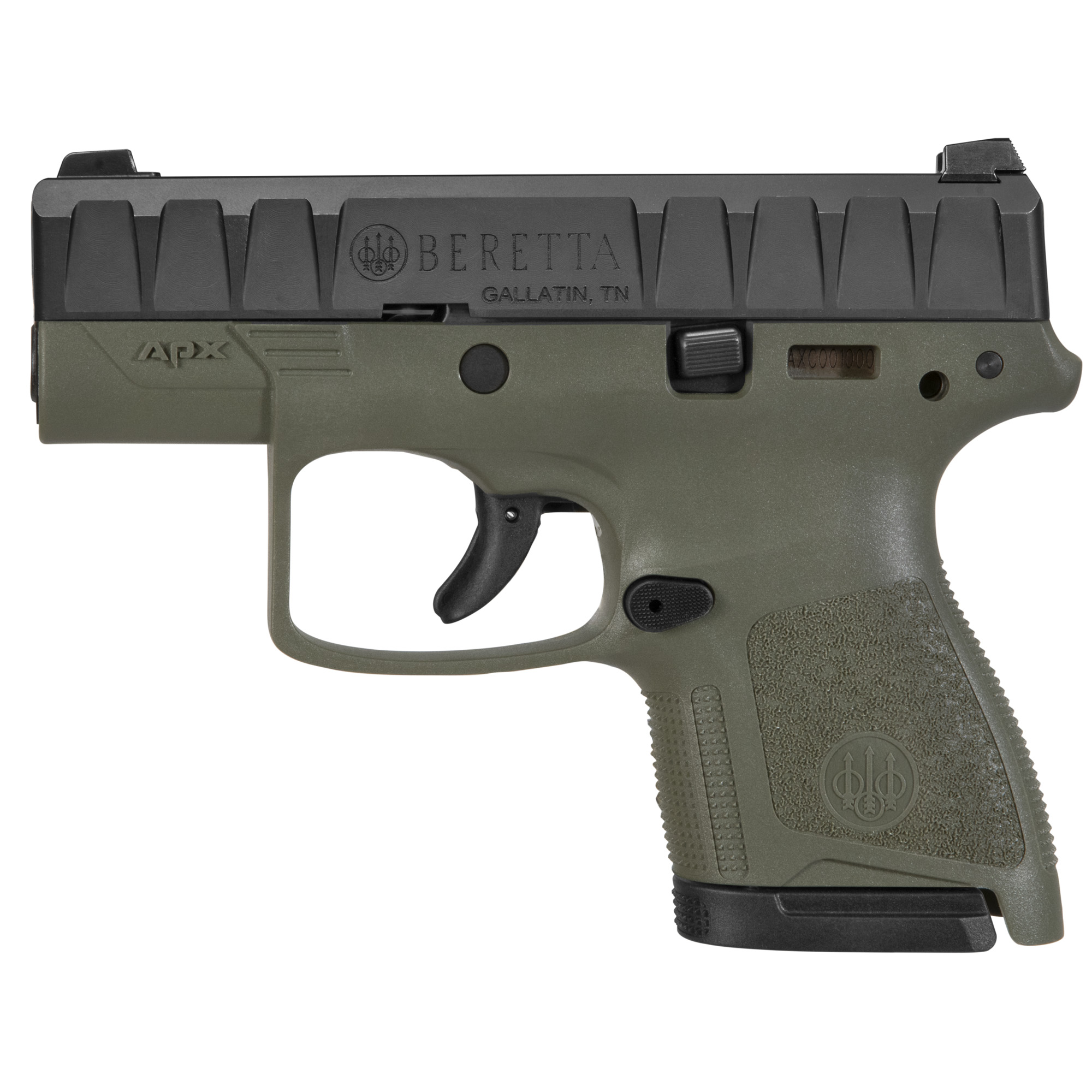 """Beretta Apx Carry 9mm 3.07"""" Odg 6/8"""