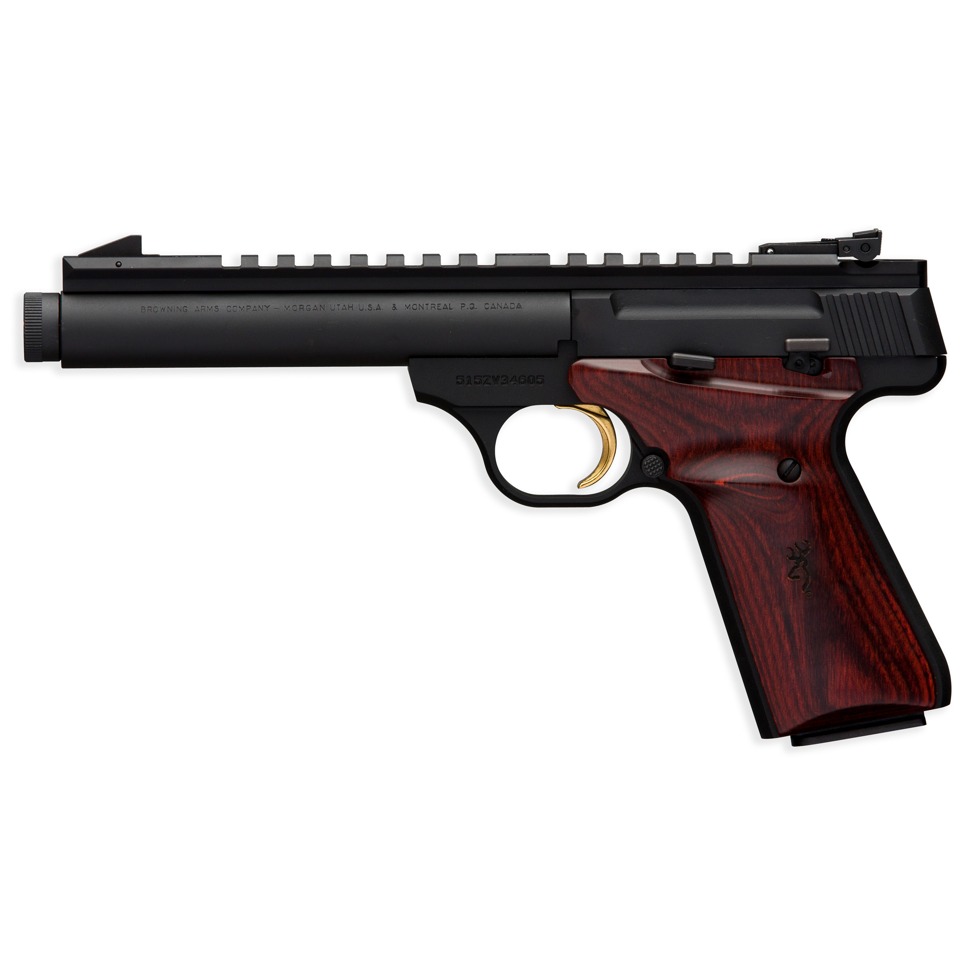 "Brown Bm Fld Trgt 22lr 5.5"" Threaded"